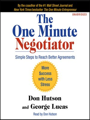 cover image of The One Minute Negotiator